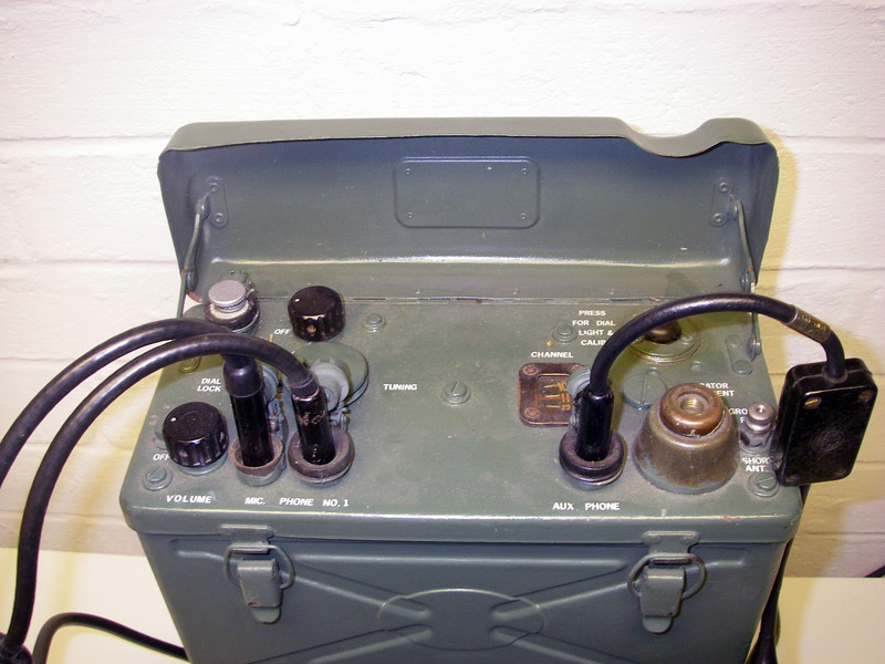 SCR-300A radio, before restoration.