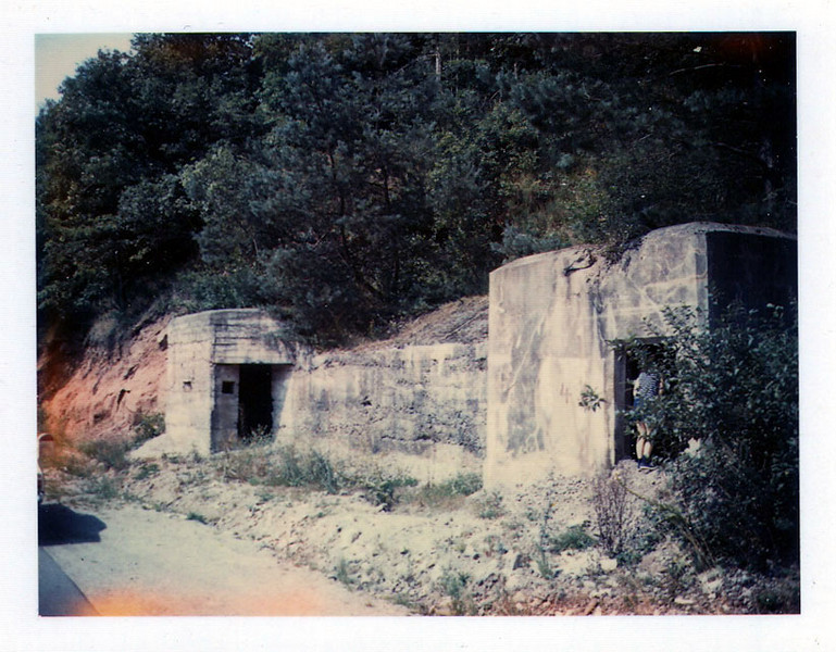 Maginot Line command structure, looking northwest, north of Siersthal, along Reyersviller-La Fromuehl road (photo taken August 1968).
