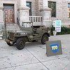 1944 Willys MB at DeKalb History Center, Decatur, GA, 2003.  Restored by me, 1998.  Unit markings Cannon Company, 399th Infantry, 100th Division.