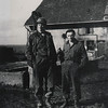 Dad with Ed Burzycki, Heiligenbronn Farm, Lorraine, France, winter 1945.
