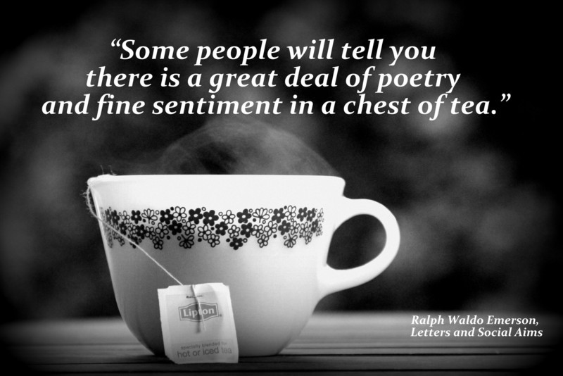 """Some people will tell you there is a great deal of poetry and fine sentiment in a chest of tea."" <br /> ― Ralph Waldo Emerson, Letters and Social Aims - Tea a retrospective -  Retro Mindfulness - Pyrex Crazy Daisy Design - Lipton"