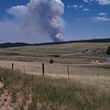 View from Divide of the start of the fire - 23 June 2012