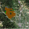 Updated Fire Perimeter - 28 June 2012 - green areas show the small amount of growth of the fire.  The section on the west is why the called for the mandatory evacuations on the south end of Woodland Park and Crystola.