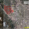 Waldo Canyon Fire Update - 30 June 2012.   The fire is now 30% contained, with further containment expected today.   There was very little growth of the fire line on Friday.  They back-burned around the west side of the fire to clean up the fire line there, and the perimeter near the CSprings neighborhoods was expanded to encompass the extent of the structure fires, so the increase in area there does not mean it actively burned.