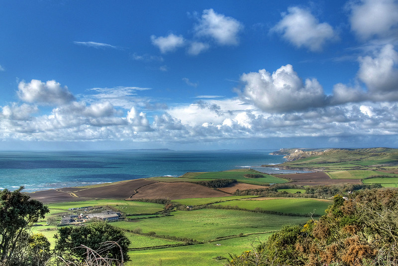 The view looking west towards Portland from Swyre Head.