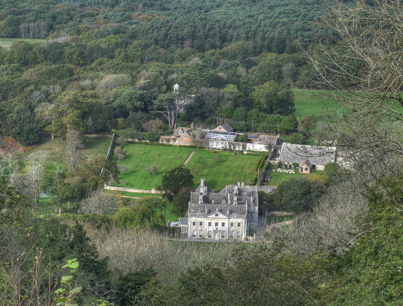 Creech Grange, a view from the ridge above above.