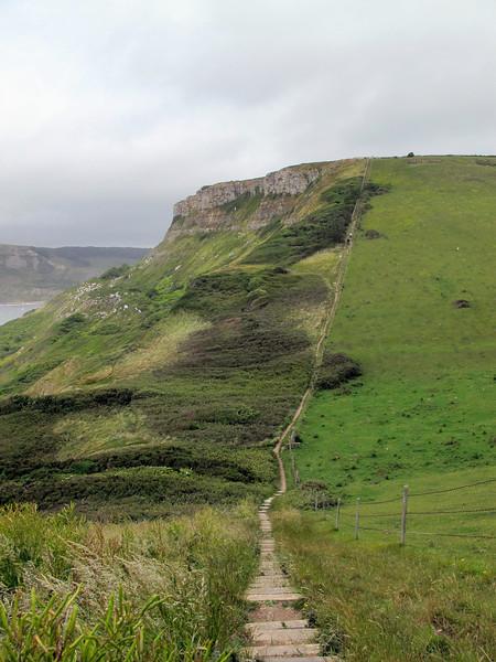 Part of the South West Coast Footpath ascending Emmett's Hill at Studland, Dorset