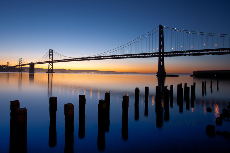 San Francisco Bay Bridge at Dawn
