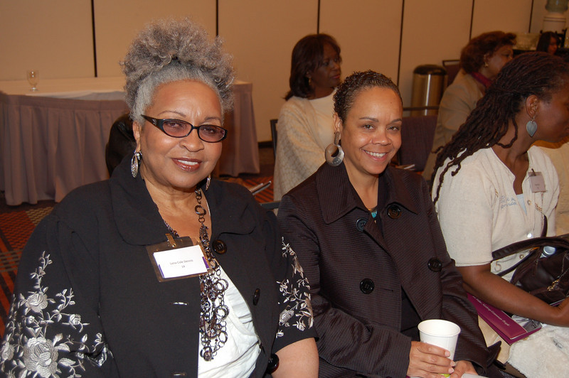 Lena Cole Dennis, Rene Cross-Washington, attendees, guest of the Johnson Products Table!