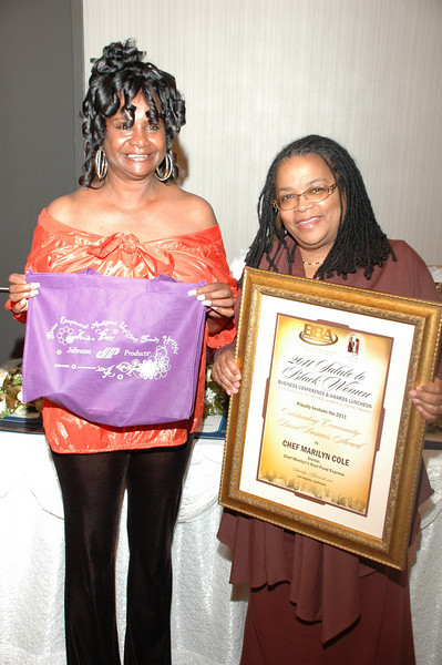 Honoree Chef Marilyn and me, Isidra Person-Lynn.<br /> <br /> Photo by Sabir Majeed
