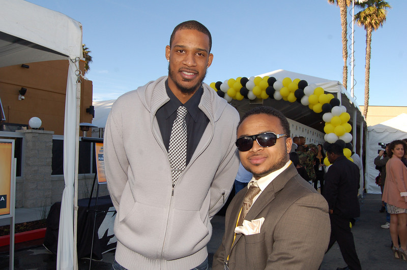 Jaaye and Trevor Ariza at his fundraiser