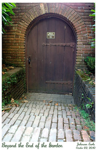 """Photos from Filoli: The other side of """"my favorite door in the garden"""" :)  Filoli Gardens, 02 October 2010."""