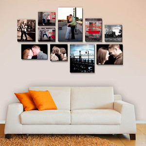 """<B>Wall Design:</B>  10 pieces shown - overall size 68"""" x 45"""" includes:  (1) 12"""" x 16"""" (2) 12"""" x 10"""" (1) 16"""" x 24"""" (1) 12"""" x 18"""" (2) 12"""" x 12"""" (1) 16"""" x 11"""" (1) 16"""" x 20"""" (1) 20"""" x 16""""   <CENTER> <a href=""""http://www.timesmartimages.com/Other/Resources/products/16107777_QtmkE""""><font size=-1.5><font color=""""#82670B"""">Measurements recommended for Float Wraps,  Canvas Gallary Wraps  and Standouts. </CENTER>"""