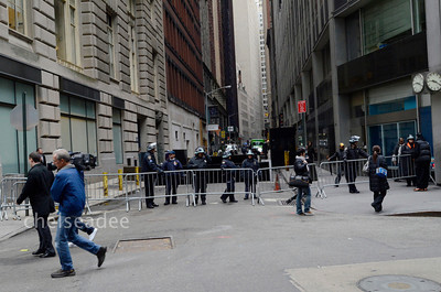 Protestors and Police clash near Wall Street in New York, New York on Nov. 17, 2011.