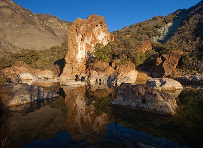 Red Rock with reflection