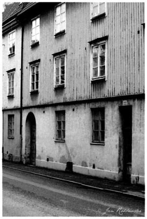 Ett foto från centrala delarna av Göteborg. Stylad i Photoshop till old style. Skulle kanske kunna vara ett foto från 1950...