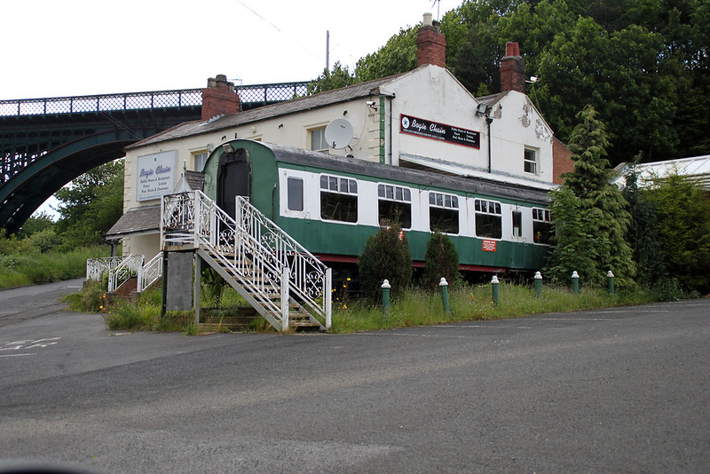 MK1 4755 incorporated into 'The Bogie Chain Pub', Wallsend 23/06/12