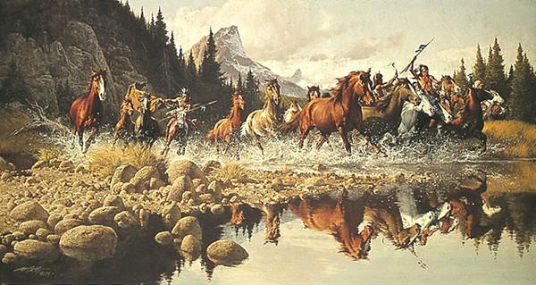 western art_FrankMcCarthy-Raiders