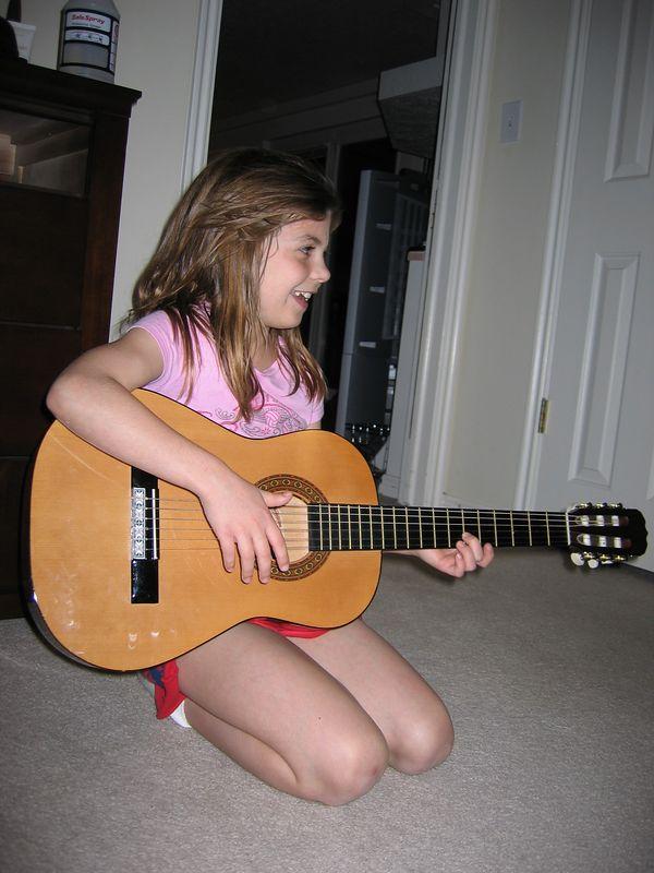 Amanda and the guitar