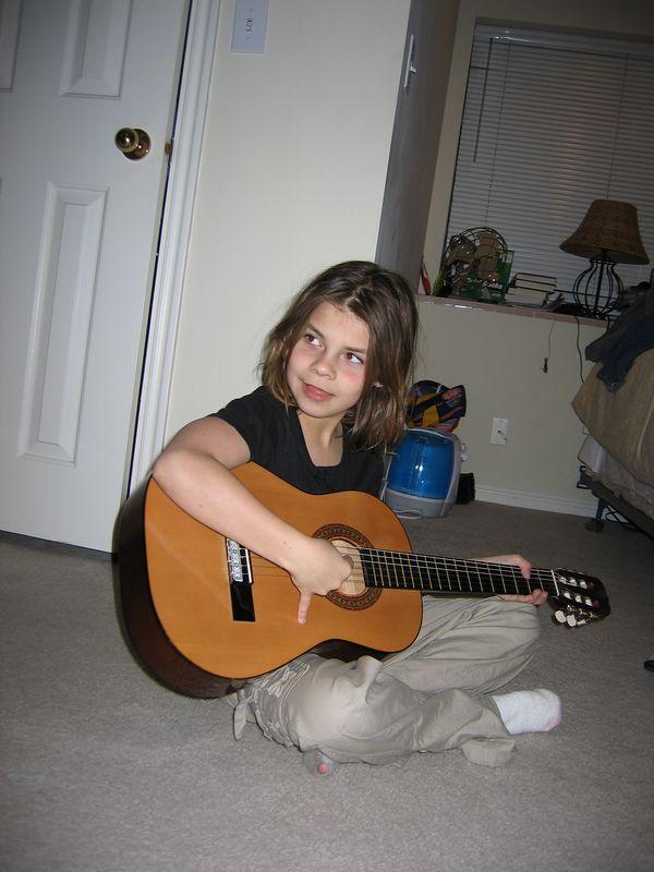Melisa and the guitar