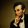 Detail of George Healy Portrait of Lincoln - National Portrait Gallery
