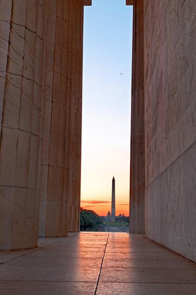 Sunrise at Lincoln Memorial II