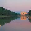 Lincoln Memorial -- Full Moon at Sunrise