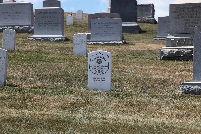 Tombstone of 18 year old Civil War Medal of Honor winner at Arlington National Cemetery