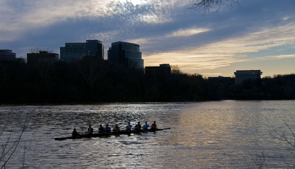 Georgetown - rowers on Potomac River