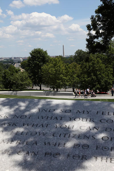 Washington Monument from the gravesite of John Kennedy at Arlington National Cemetery