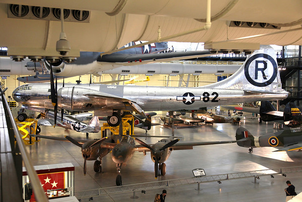 The Enola Gay and a P-38 -- National Air & Space Museum Annex, Dulles Airport, VA