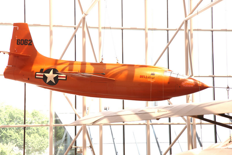 Glamorous Glennis, the plane in which Chuck Yeager first broke the sound barrier -- National Air & Space Museum Main Facility