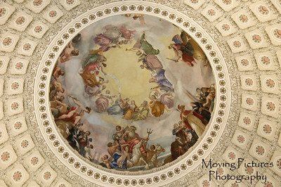 US Capitol - Bertoldi's painting inside the dome of the rotunda