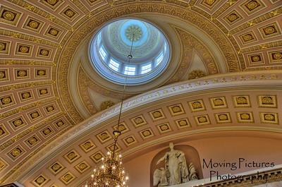 US Capitol - ceiling inside Statuary Hall