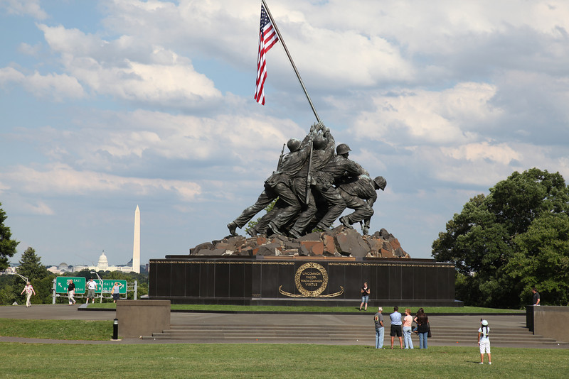 United States Marine Corps Memorial at Arlington, VA -- Washington, DC in background