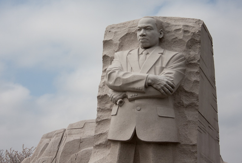 Just opened, the Martin Luther King Memorial.