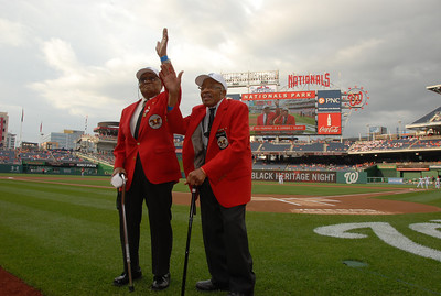 Washington Nationals Black Heritage Night On Field appearance of DOTAs Bill Fauntroy and Ed Talbert