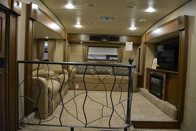 The inside of a different big 5th wheel.