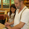 Grampy helps Alana with first wood project