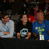 Washington delegates Patrick Gunning, Lori Macklin and Nick Petrish at the Democratic National Convention in Denver Wednesday, August 27, 2008. (Anne-Marie Taylor Lathrop)