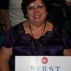 Julie Johnson, Washington delegate, at the Democratic National Convention in Denver Wednesday, August 27, 2008. (Anne-Marie Taylor Lathrop)