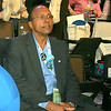 Washington Delegate Dr. Victor A. Collymore at the Democratic National Convention in Denver, Wednesday, August 27, 2008. (Anne-Marie Taylor Lathrop)