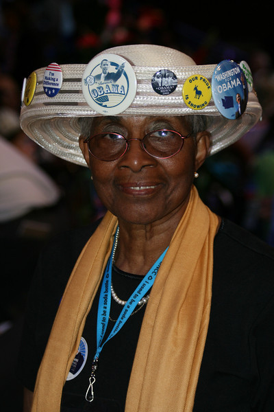 Rosa Franklin, Washington delegate, at the Democratic National Convention in Denver Wednesday, August 27, 2008. (Anne-Marie Taylor Lathrop)