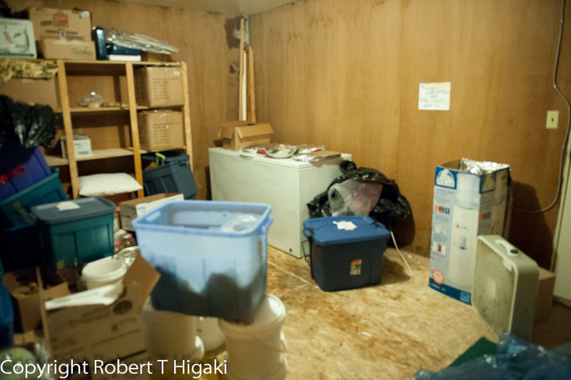 the cold room: where the overstocked food is kept and where photographers can store their gear in.<br /> <br /> Update: no longer a cold room; just a storage room.