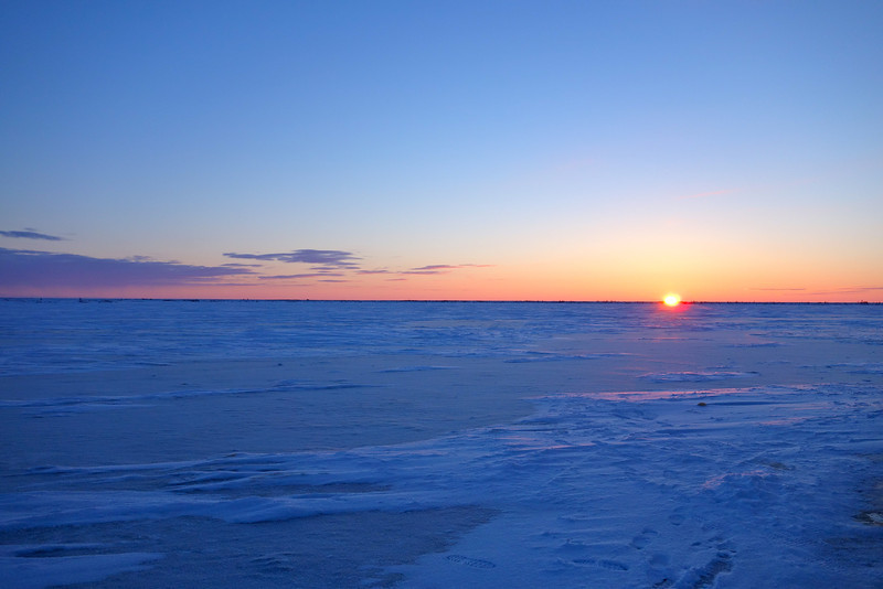 sunset over the tundra