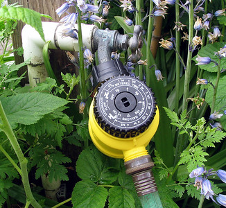 We don't water our lawn but if you choose to use a timer, don't water more than 1 hour a week.