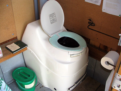 Staff save thousands of litres of water by using our waterless compost toilet.
