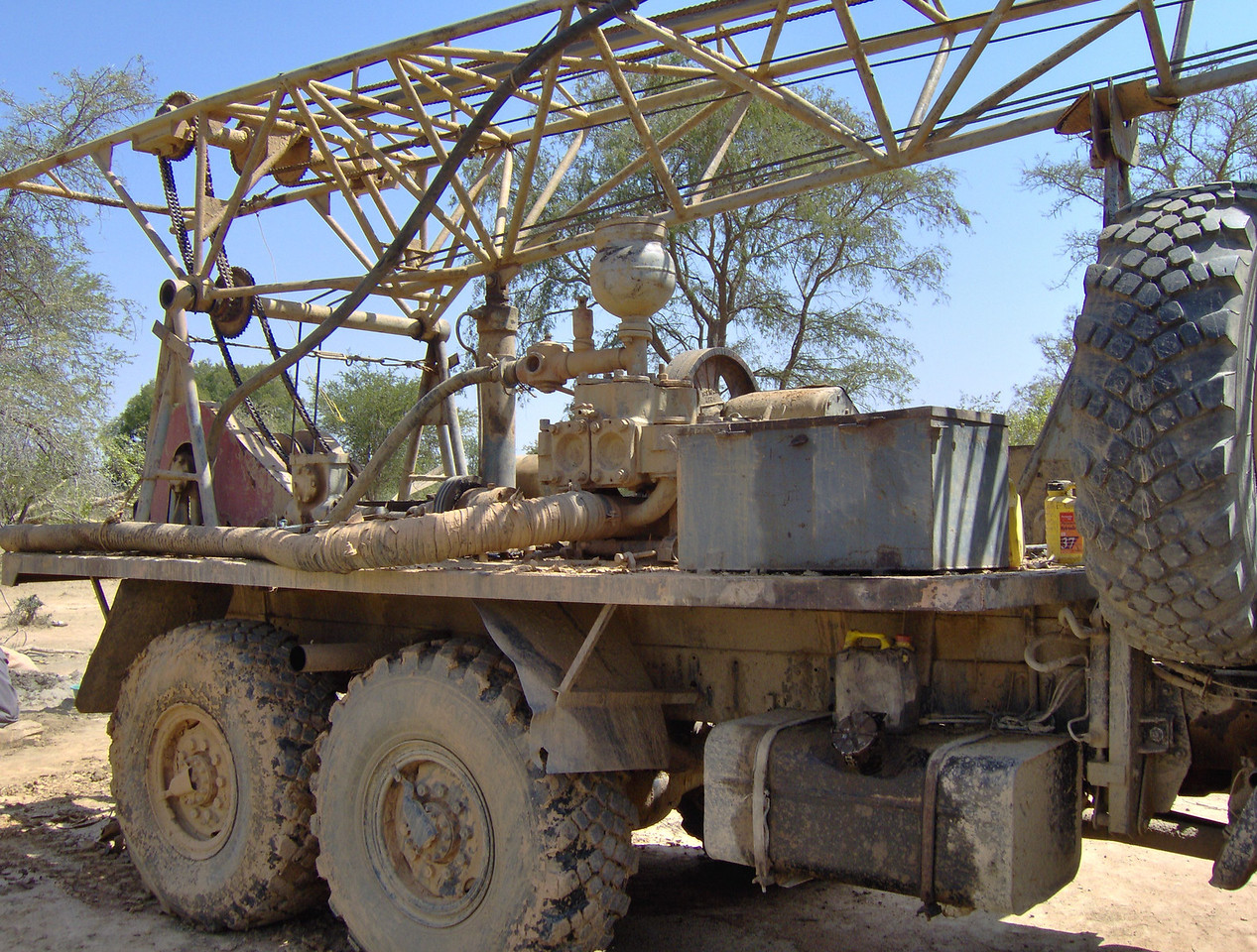 With the drilling done, the rig will be on its way to the next location fortunate enough to get clean drinking water.