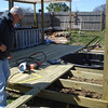 Getting the deck down.