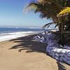 2001/02.  Sandbagged El Burro restaurant after the ocean had finally calmed down.